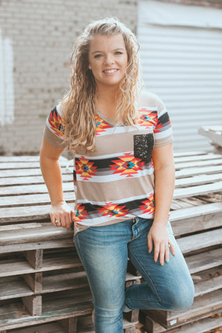 The Roamer Aztec Top