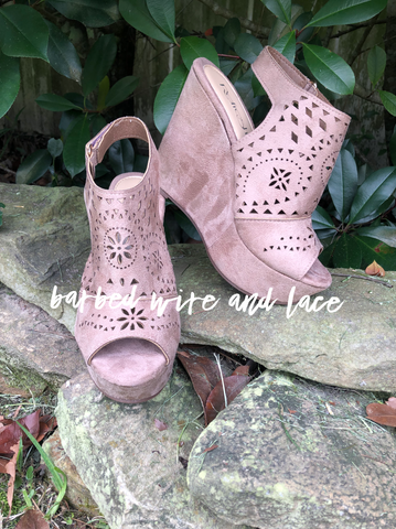 Renee's Taupe Wedge
