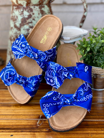 Loco Bandana Sandals- Blue