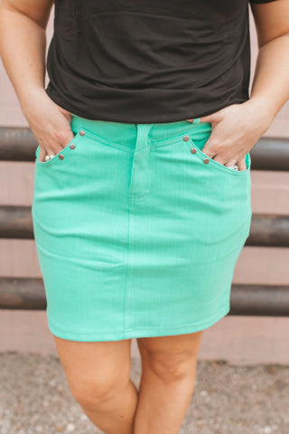 The Law Maker Skirt- Turquoise