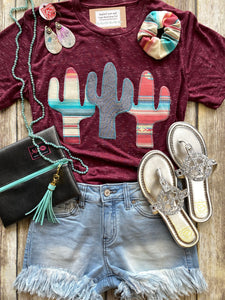 Custom Cactus Trifecta Tee (Agave Red)