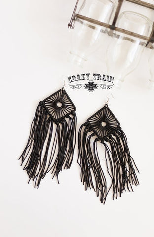 Day Dreamer Earrings- Black