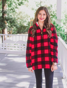 Barker Buffalo Plaid Fleece Pullover