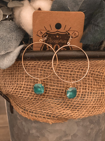 The Turquoise Stud/Hoop Earrings