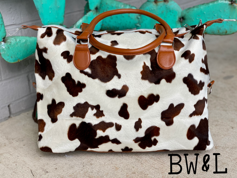 Kaylor Tote (Brown Cow)