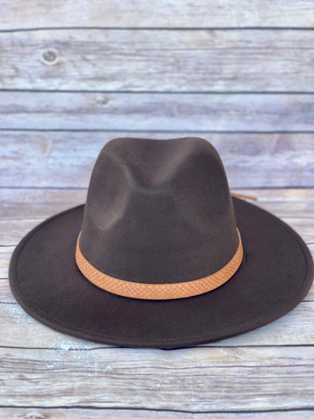 Highway Felt Hat- Brown