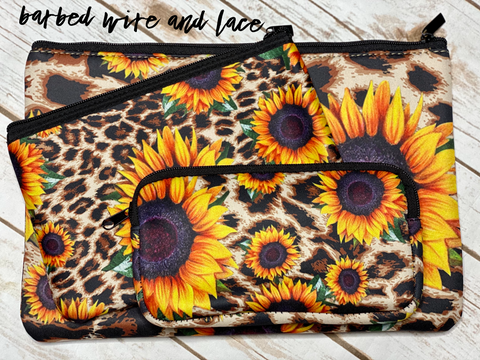 Waverly Sunflower Set (Black/Leopard)