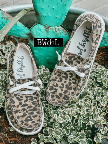Leopard Lace Up Sneaker