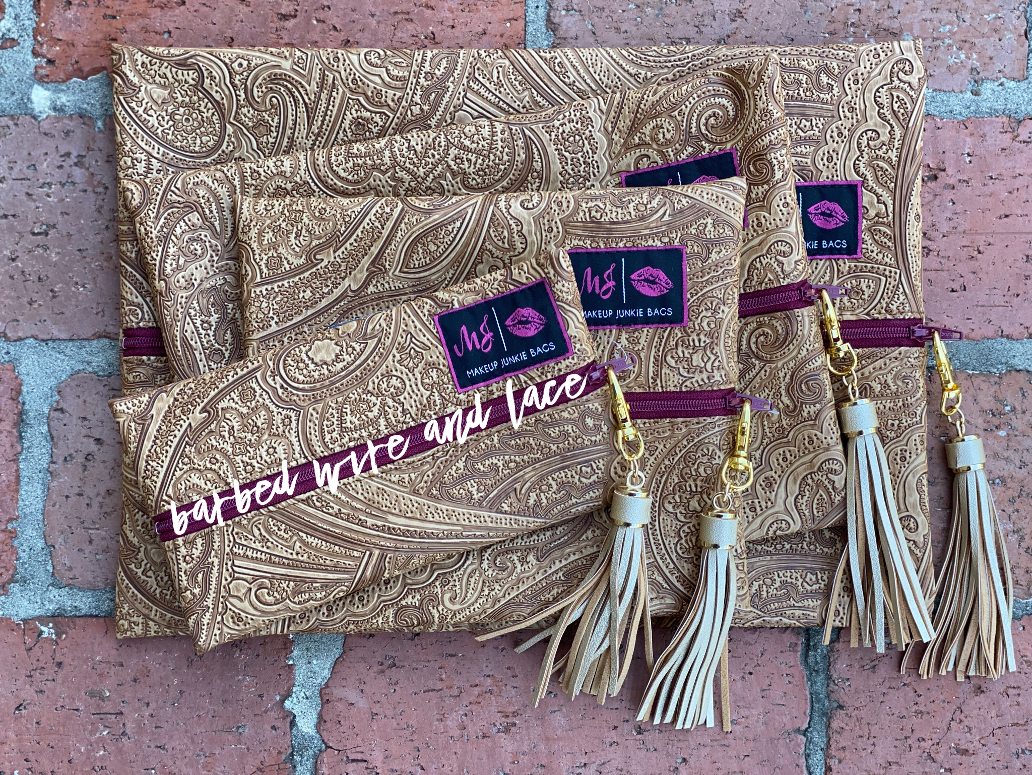 Paisley Dream Set (Exclusive Maroon Zipper)