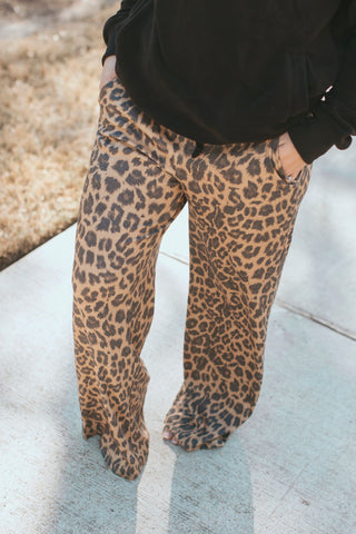 The Comfort In Pants- Leopard