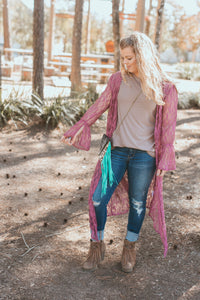 The Dania Duster- Mauve