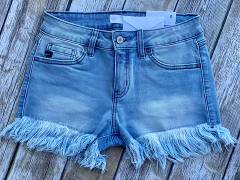 The Nashville Fray Shorts (Light Wash)