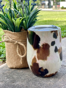 Stainless Steel Wine Tumbler (CowBabe)