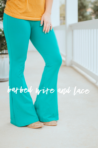 Teal Bell Air Flares
