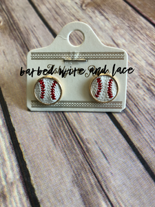 Baseball Stud Earrings