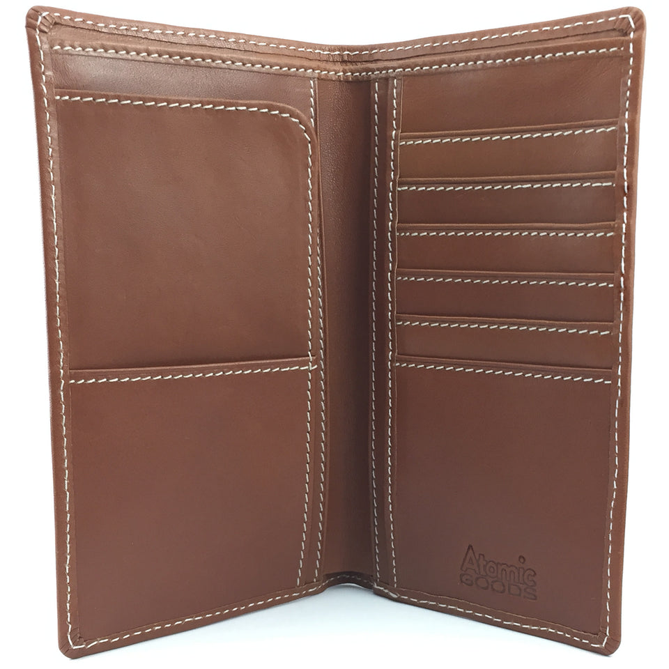 Breast Pocket Checkbook Wallet Open