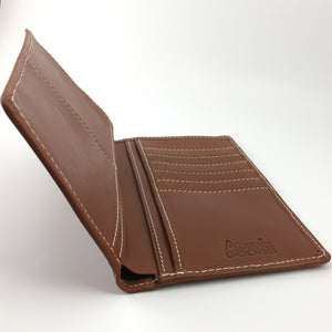 Breast Pocket Checkbook Wallet Angle
