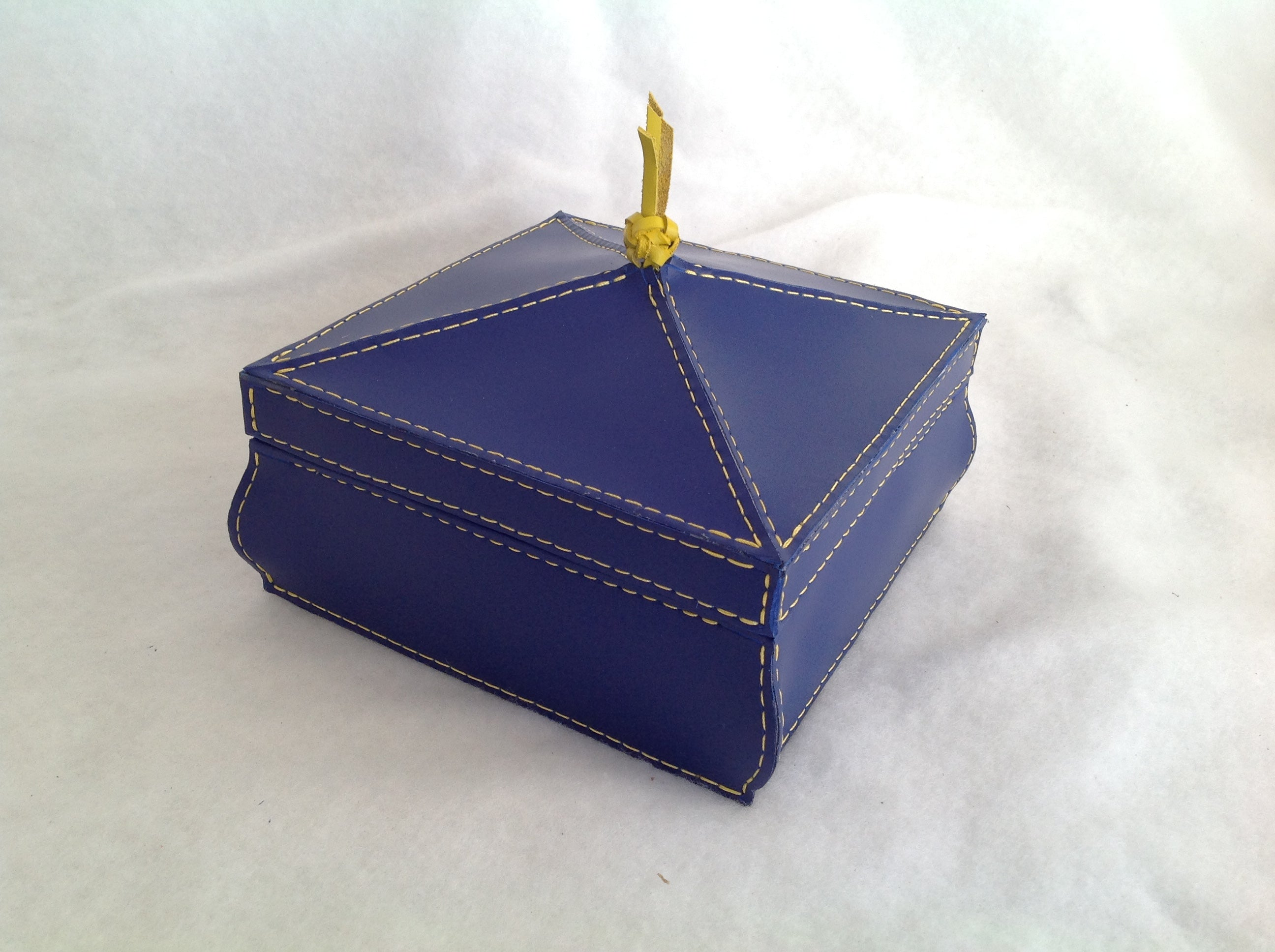Tool Box in Blue Latigo Leather