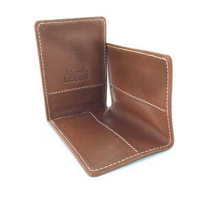 Three Fold Card Wallet Open