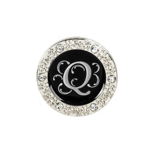 "Monogram Bling ""Q"" Key Finder"