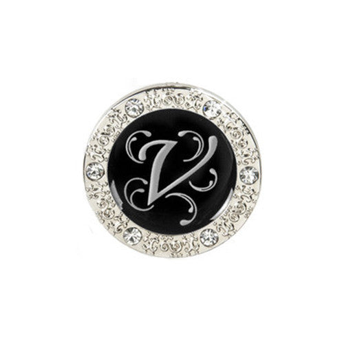 "Monogram Bling ""V"" Key Finder"