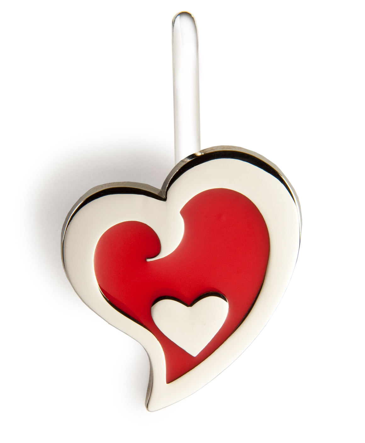 Red Heart in Heart Key Finder