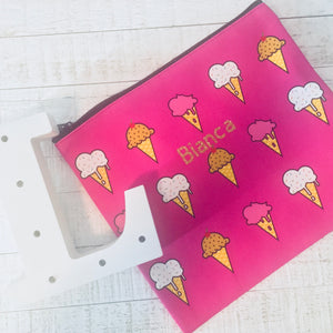 Ice Cream cosmetic bag