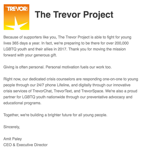 time to grab back trevor project charity donation