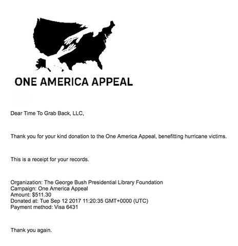 one america appeal charity