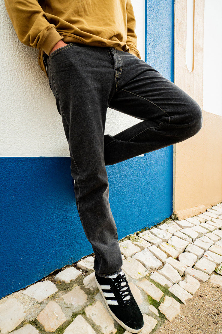 Black Oslo Regular Jeans