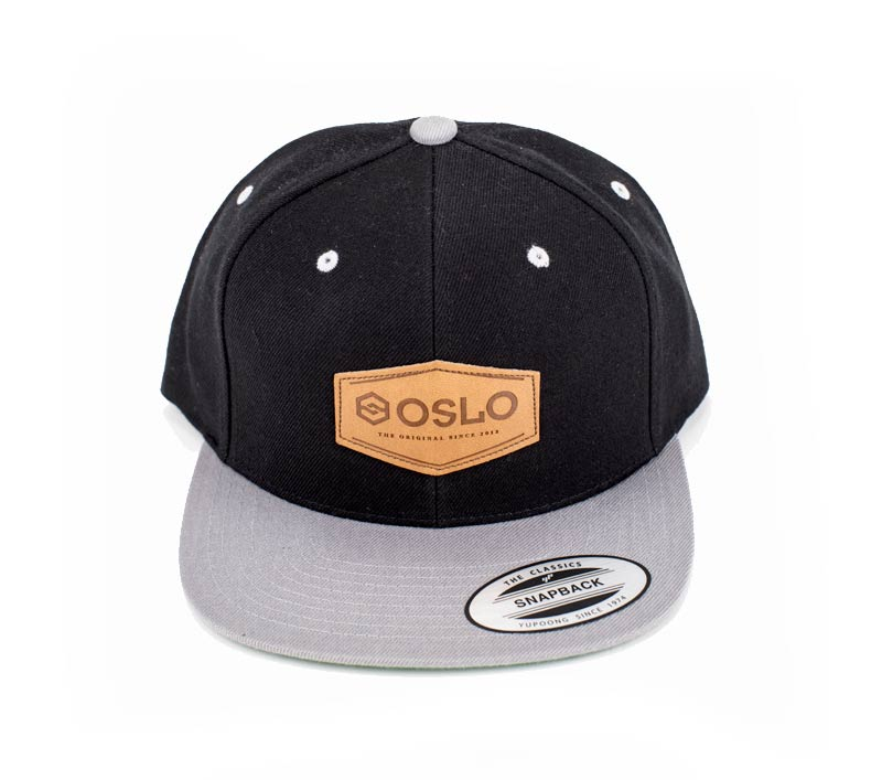 Oslo Black & Gray Cap