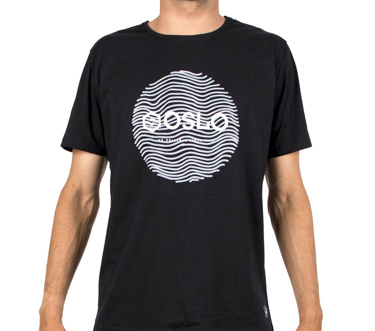 T-shirt Oslo Circle Black