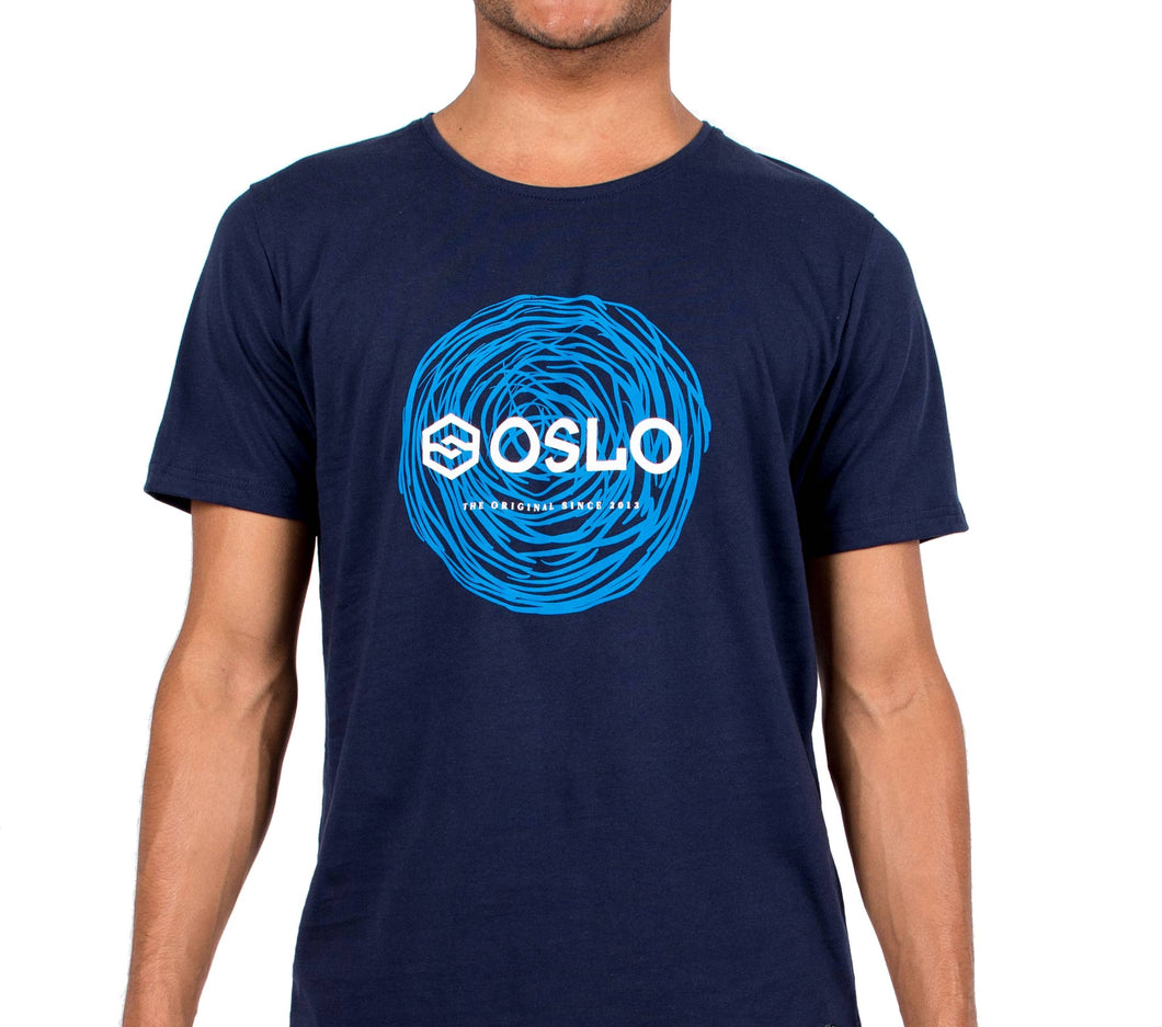 T-shirt Oslo Circles Blue