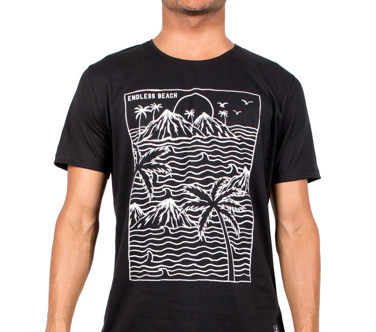 T-shirt Endless Beach