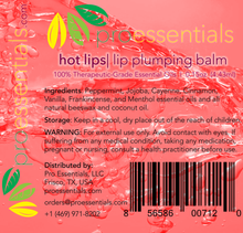HOT LIPS | Essentials Oils Lip Plumping Balm