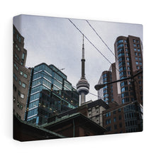 Toronto Street View CN Tower Canvas Wrap