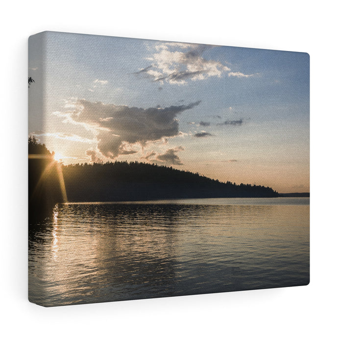 Bon Echo Sunset Canvas Wrap