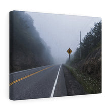 Lake Superior Foggy Road Canvas Wrap