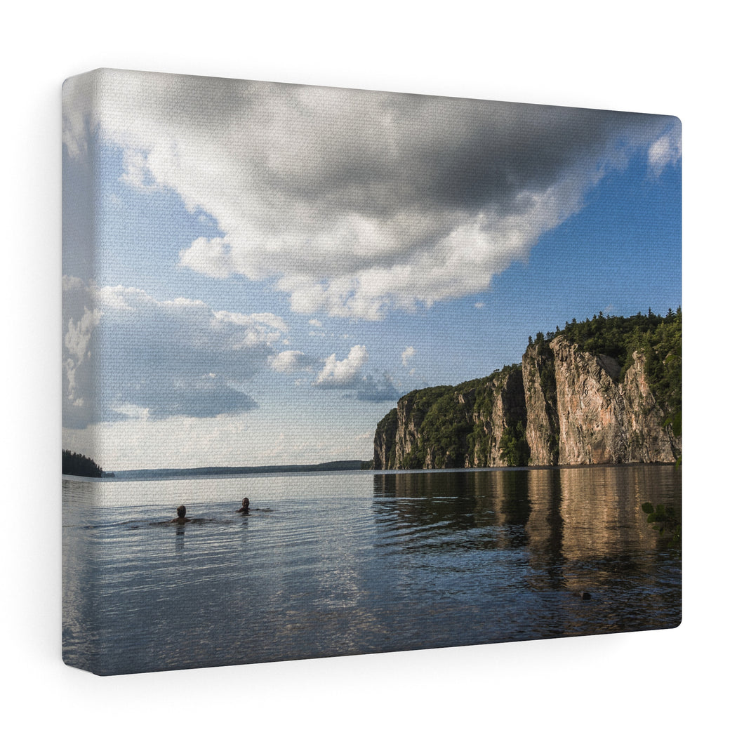 Bon Echo Swimming Time Canvas Wrap