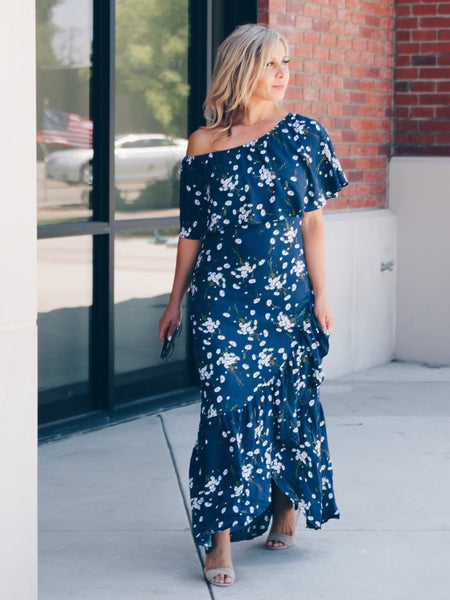Spotted High Low Dress