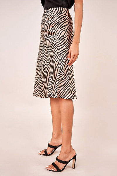 Jetta Tiger Midi Skirt- Final Sale
