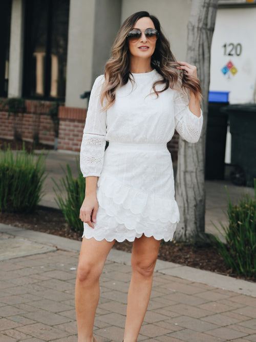 Claire Eyelet Mini Dress