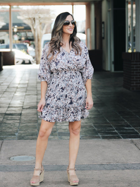 Fiona Floral Wrap Maxi Dress - 1 Left! Final Sale