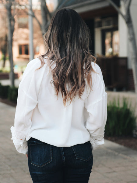 Simple As That White Blouse