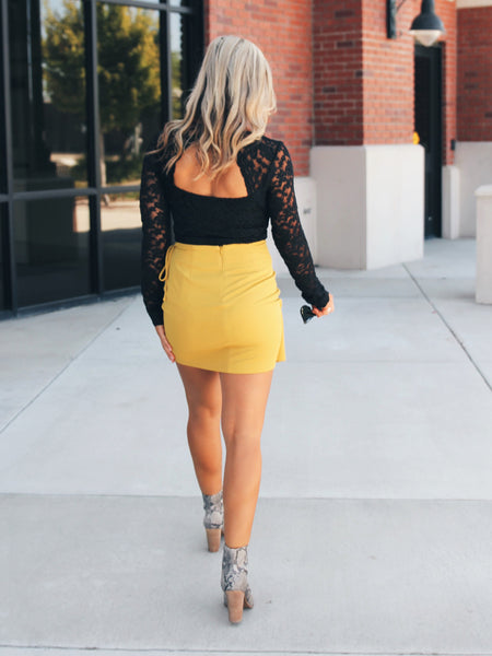 Golden Hour Mini Wrap Skirt- Final Sale