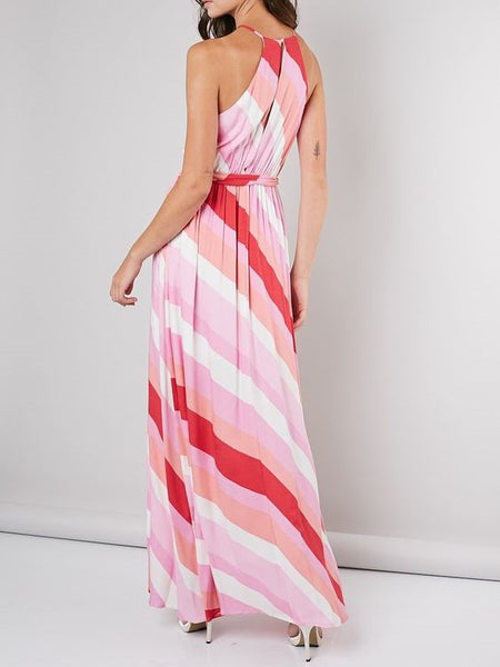 Sunset Striped Maxi Dress- 1 Left Med / Final Sale