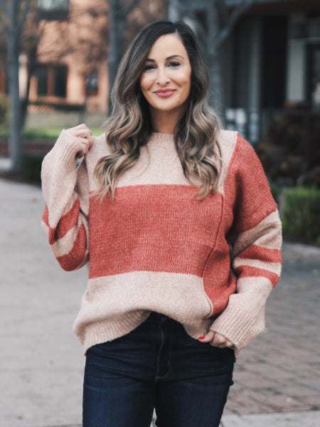 In The Season Colorblock Knit Sweater