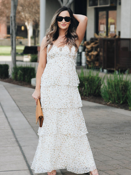 Cross My Heart Tiered Maxi Dress
