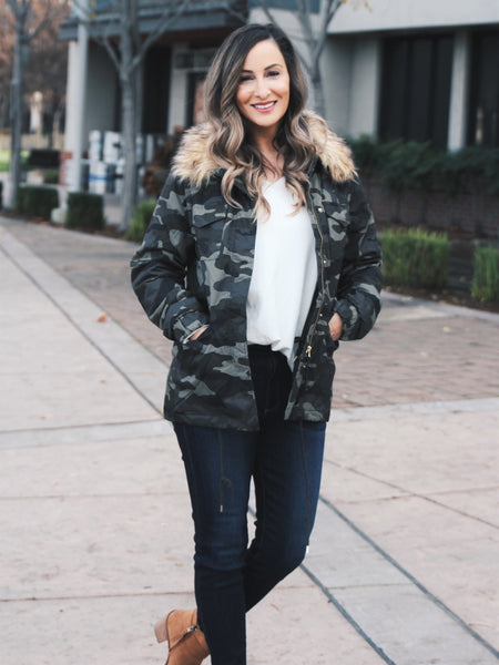 Brooklyn Shearling Button-Down Jacket
