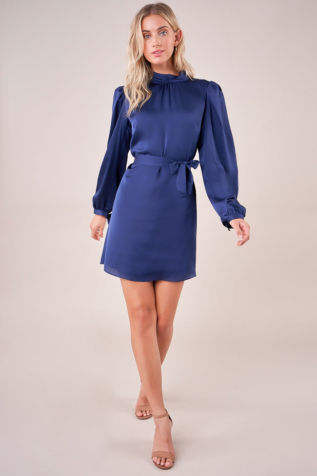 Lilyah Mock Neck Satin Dress 1 Left! Final Sale